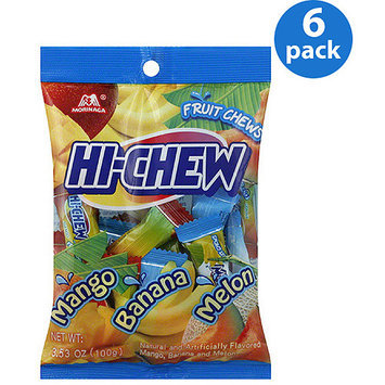 Morinaga HI-CHEW Mango/Banana/Melon Fruit Chews, 3.53 oz, (Pack of 6)