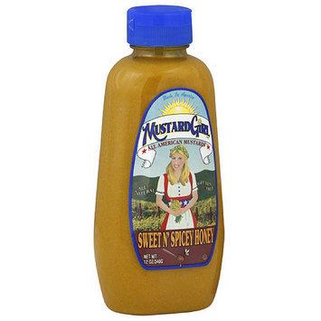 Mustard Girl Sweet N' Spicey Honey Mustard, 12 oz (Pack of 12)
