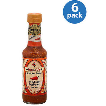 Nando's Medium Peri-Peri Sauce, 4.7 oz, (Pack of 6)