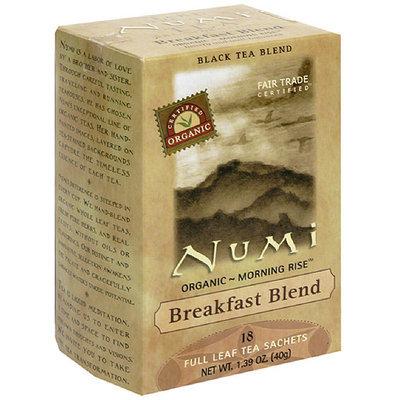 Numi Organic Breakfast Blend Black Tea Bags, 18 count, (Pack of 6)