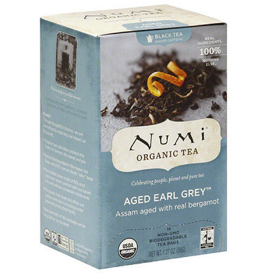 Numi Aged Earl Grey Organic Tea, 18 count, (Pack of 6)