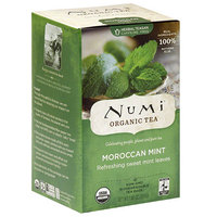 Numi Organic Moroccan Mint Black Tea Bags, 18 count, (Pack of 6)