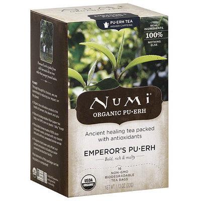 Numi Emperors Pu-erh Organic Tea Bags, 16 count, (Pack of 6)