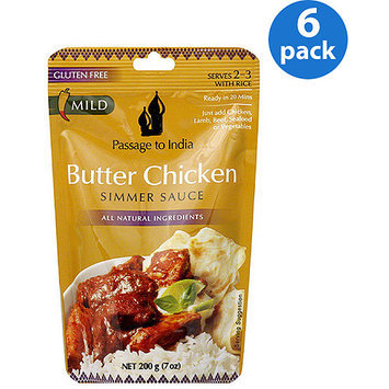Passage to India Butter Chicken Simmer Sauce, 7 oz, (Pack of 6)