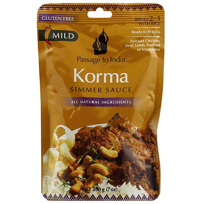 Passage to India Korma Simmer Sauce, 7 oz, (Pack of 6)