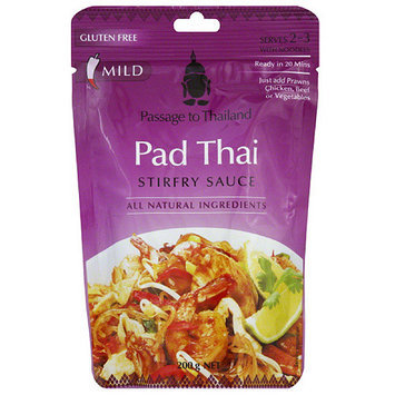 Passage to Thailand Pad Thai Stir-Fry Sauce, 7 oz, (Pack of 6)