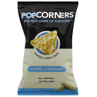 Popcorners White Cheddar Popped Corn Chips, 5 oz (Pack of 12)