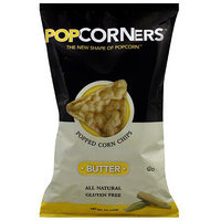Popcorners Butter Popped Corn Chips, 5 oz (Pack of 12)