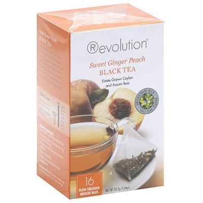 Revolution Tea Sweet Ginger Peach Black Tea, 1.24 oz, (Pack of 6)