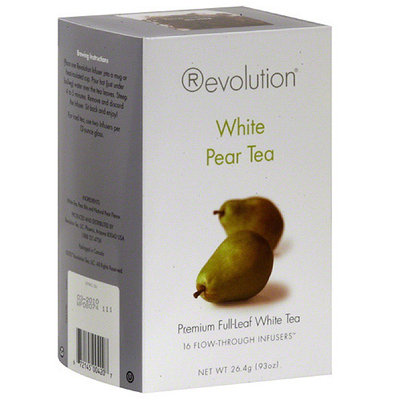Revolution Pear White Tea Bags, 16 count, (Pack of 6)