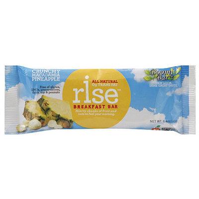 Boomi Bar Rise Crunchy Macadamia Pineapple Breakfast Bars, 12 count, (Pack of 12)