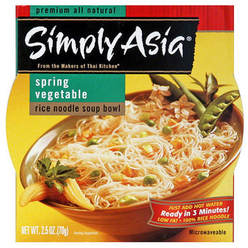 Simply Asia Spring Vegetable Rice Noodle Soup Bowl, 2.5 oz, (Pack of 6)