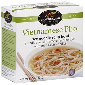 Snapdragon Vietnamese Pho Rice Noodle Soup Bowl, 2.1 oz, (Pack of 6)