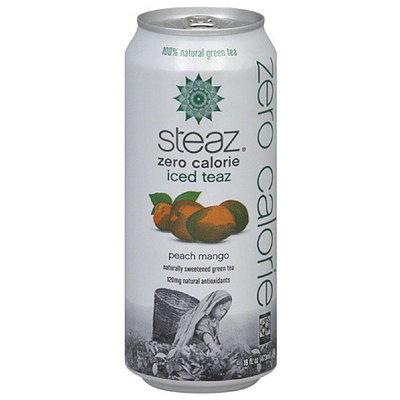 Steaz 100% Natural Peach Mango Green Tea 16 fl oz, 16FO (Pack of 12)