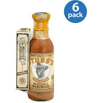 Stubb's Texas Butter Injectable Marinade, 12 oz, (Pack of 6)