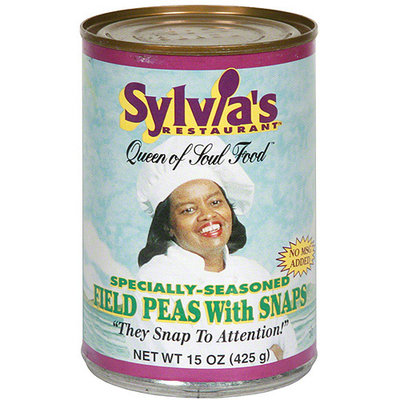 Sylvia's Restaurant Specially-Seasoned Field Peas with Snaps, 15 oz (Pack of 12)