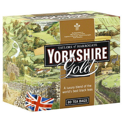 Taylors of Harrogate Yorkshire Gold Black Tea, 80 count, (Pack of 5)