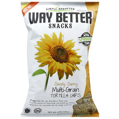 Way Better Snacks Multigrain Tortilla Chips, 5.5 oz, (Pack of 12)