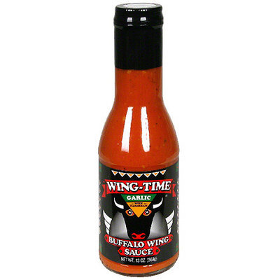 Wing-Time Garlic with Parmesan Buffalo Wing Sauce, 13 oz, (Pack of 6)