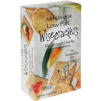 Wisecrackers Roasted Garlic Crackers with Rosemary, 4 oz (Pack of 6)