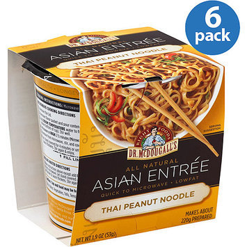 Dr. McDougall's Thai Peanut Noodle Asian Entree, 1.9 oz, (Pack of 6)