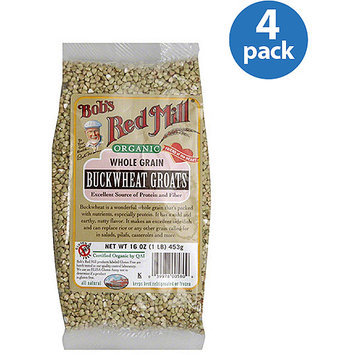 Bob's Red Mill Organic Whole Grain Buckwheat Groats, 16 oz, (Pack of 4)