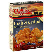 Don's Chuck Wagon Fish & Chips Batter Mix, 12 oz, (Pack of 6)