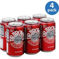 Dr. Brown's Black Cherry Soda Soda, 12 fl oz, (Pack of 4)