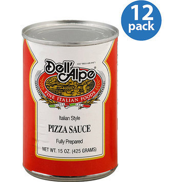 Dell Alpe Dell'Alpe Italian-Style Pizza Sauce, 15 oz (Pack of 12)