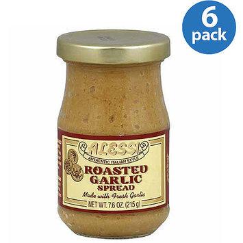 Alessi Roasted Garlic Spread, 7.6 oz, (Pack of 6)