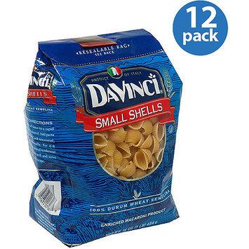 DaVinci Small Shells Pasta, 16 oz, (Pack of 12)