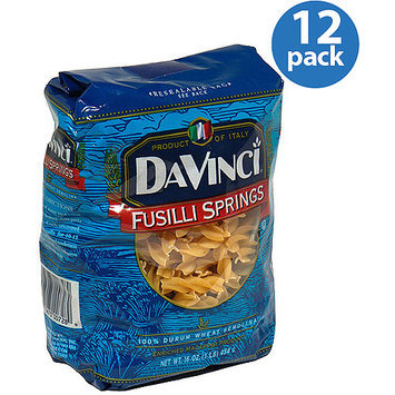 DaVinci Fusilli Springs Pasta, 16 oz, (Pack of 12)
