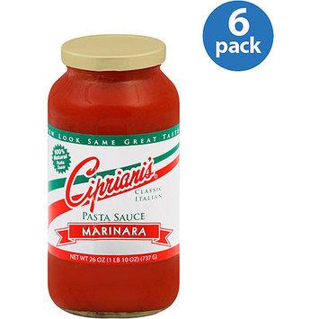Cipriani's Marinara Pasta Sauce, 26 oz, (Pack of 6)