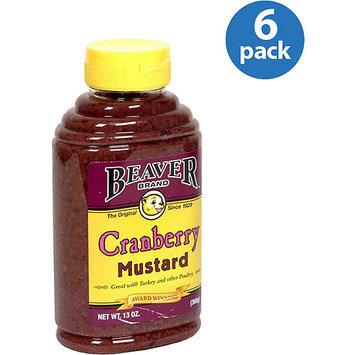 Beaverton Beaver Brand Cranberry Mustard, 13 oz, (Pack of 6)