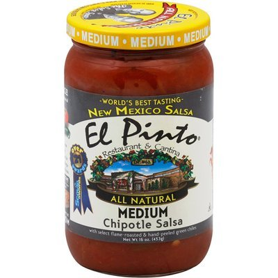El Pinto Medium Chipotle Salsa, 16 oz (Pack of 6)