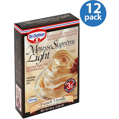 Dr. Oetker French Vanilla Light Mousse Supreme, 0.98 oz, (Pack of 12)