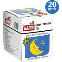Badia Linden Leaves Tea Bags, 0.045 oz, (Pack of 20)
