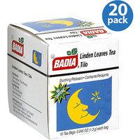 Badia Linden Leaves Tea Bags, 0.045 oz, (Pack of 20)