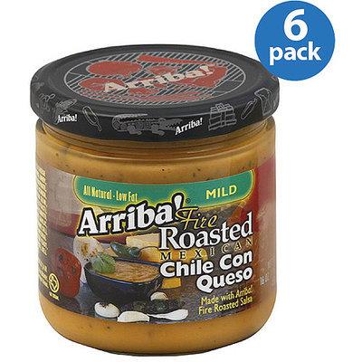 Arriba! Mild Chile Con Queso, 16 oz, (Pack of 6)