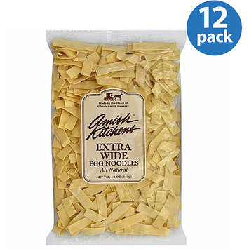 Amish Kitchens Extra Wide Egg Noodles, 12 oz, (Pack of 12)