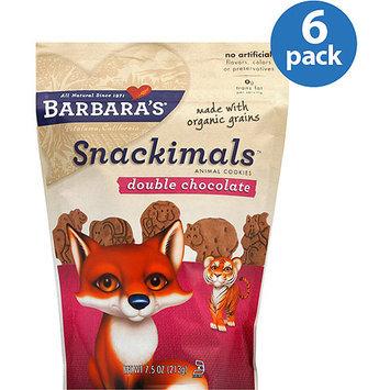 Barbaras Barbara's Bakery Snackimals Double Chocolate Animal Cookies, 7.5 oz (Pack of 6)