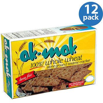 Ak Mak Ak-Mak 100% Whole Wheat Sesame Crackers, 4.15 oz, (Pack of 12)