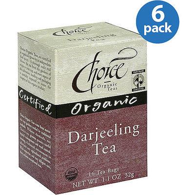 Choice Organic Teas Organic Darjeeling Tea, 16 count, (Pack of 6)