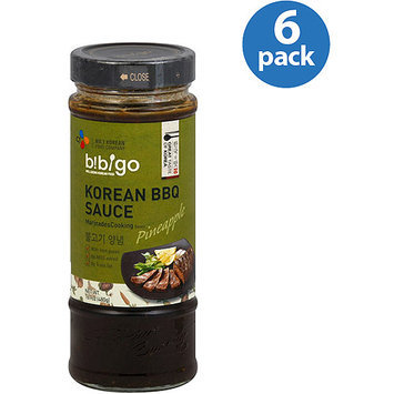 bibigo Korean BBQ Pineapple Marinade Cooking Sauce, 16.9 oz, (Pack of 6)