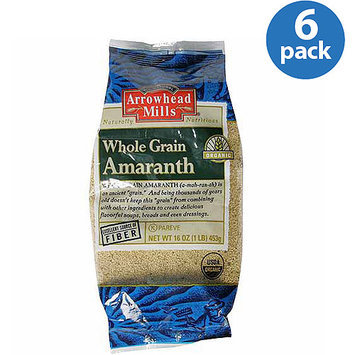 Arrowhead Mills Whole Grain Organic Amaranth, 16 oz, (Pack of 6)