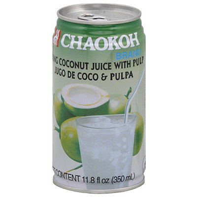 Chaokah Chaokoh Brand Young Coconut Juice with Pulp, 11.8 oz (Pack of 24)