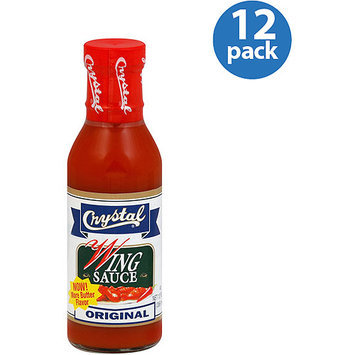 Crystal Original Wing Sauce, 12 oz (Pack of 12)