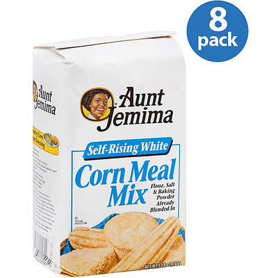 Aunt Jemima Self-Rising White Corn Meal Mix, 5LB (Pack of 8)