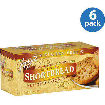 Amy's Kitchen Amy's Gluten-Free Almond Shortbread Cookies, 5.4 oz, (Pack of 6)
