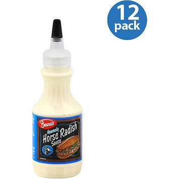 Beano's Heavenly Horse Radish Sauce, 8 oz, (Pack of 12)